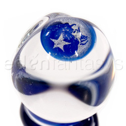 Glass G-spot shaft - Mini moon & stars pocket rocket - view #2