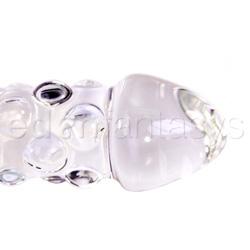 Glass dildo - Rocky road glass dildo with handle - view #3