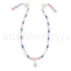 Beaded chain nipple huggers - nipple jewelry