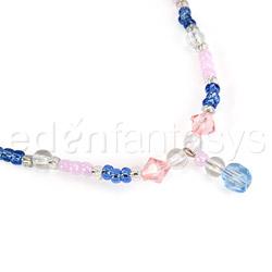 Nipple jewelry - Beaded chain nipple huggers - view #2
