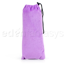 Purple padded pouch - sex toy storage