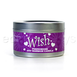 Pheromone soy massage candle