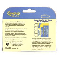 Male condom - Kimono MicroThin 12 pack - view #4