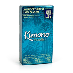 Male condom - Kimono microthin ultra lubricated with aqua lube - view #3