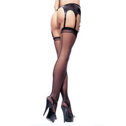 Sheer backseam stockings - sexy lingerie