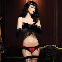 Burlesque lace heart panty - sexy panty
