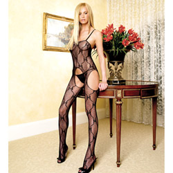 Bow lace bodystocking - crotchless bodystocking