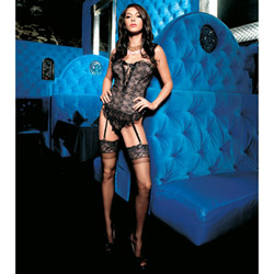 Strapless bustier and g-string - bustier and panty set