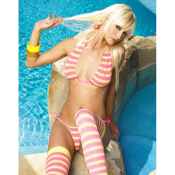 Striped top and bikini set - bra and panty set
