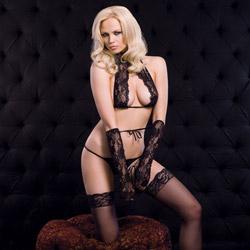 Sexy naughty lace set - bra and panty set