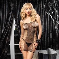 Fence net mini dress