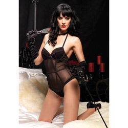Burlesque black teddy