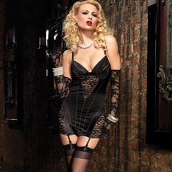 Burlesque garter dress - chemise