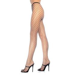 Diamond net pantyhose - hosiery