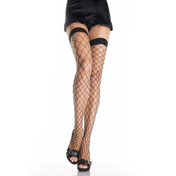 Fence net thigh high - hosiery