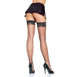 Stay up backseam fishnet stockings - hosiery