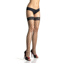 Lace top fence net stockings - sexy lingerie