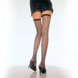 Backseam fishnet thigh highs - sexy lingerie