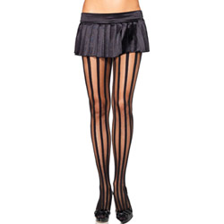 Vertical stripe panythose - sexy lingerie