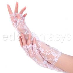 Elbow length fingerless gloves