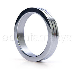 Groove stainless steel cock ring