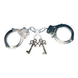 Handcuffs with keys - police style handcuffs