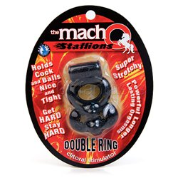 The Macho Stallions double ring clitoral stimulator - cock ring