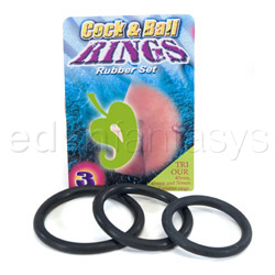 Cock ring - Cock & ball rubber rings - view #2