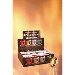 Pecker shot glass 12 pieces with display - DVD