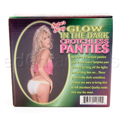 Crotchless panty - Crotchless panties glow in the dark - view #3