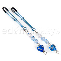 Nipple clamps - Fresh heart beaded nipple clamps - view #3