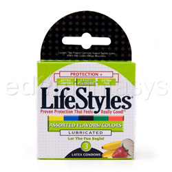Male condom - Lifestyles assorted 3 pack - view #3