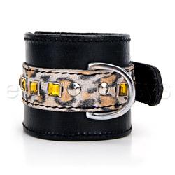 Restraints - Leopard bling cuffs - view #3