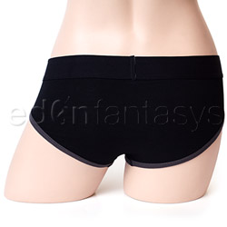 Panty harness - Brief harness black and dark grey - view #3