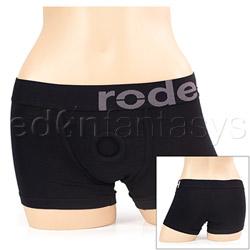Black boxer harness - panty harness