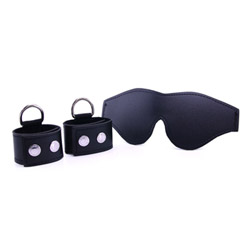 Cuffs and blindfold set - S&M cuffs and blindfold kit - view #1