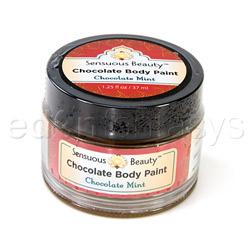 Sensuous chocolate body paint