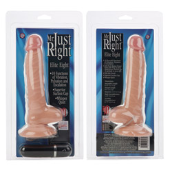Realistic vibrator - Mr. Just Right elite eight - view #3