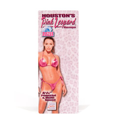 Traditional vibrator - Houston's pink leopard junior - view #3