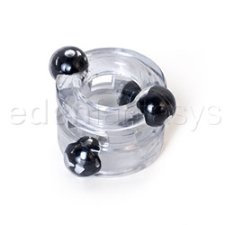 Magnetic power ring double - cock ring