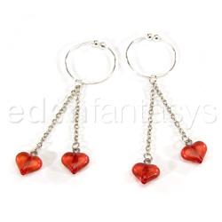 joyería para el pezón - Asian hearts nipple rings - view #1