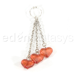 Belly button ring - Asian hearts navel ring - view #1