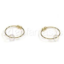 Crystal bead nipple ring - nipple jewelry