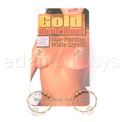 Nipple jewelry - Crystal bead nipple ring - view #2