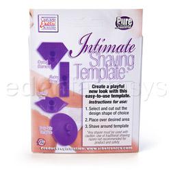 Sensual kit - Intimate shaving template purple - view #2