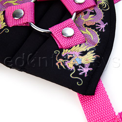 Double strap harness - Inked restraints tattoo harness - view #2