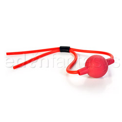 Silicone ballgag with string - headgear