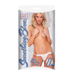 Something blue satin vibrating panty - vibrating panty