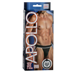 Male undies - Apollo mesh jock with C-ring - view #1