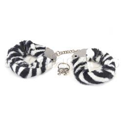 Tera Patrick's animal print cuffs - Wrist cuffs